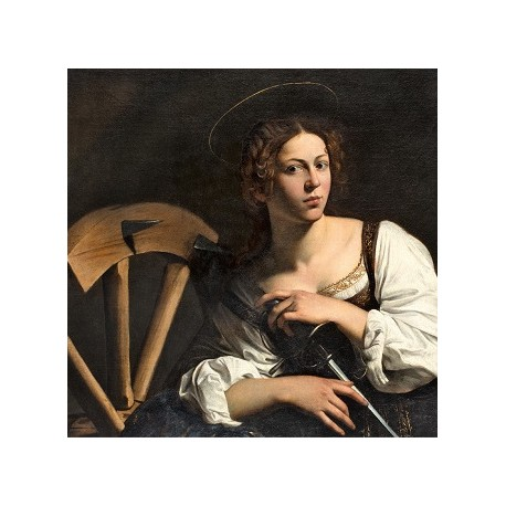 Caravaggio, Santa Catalina de Alejandría (detalle), hacia 1598-1599, Museo Nacional Thyssen-Bornemisza, Madrid